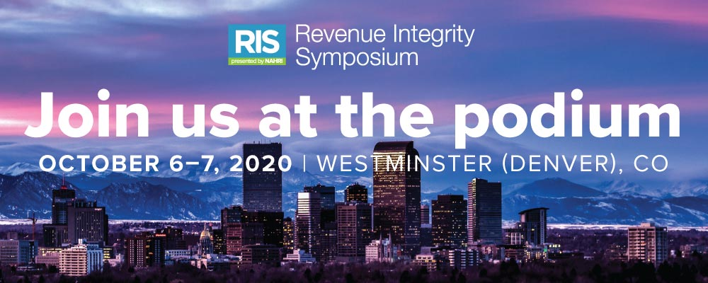 2020 Revenue Integrity Symposium Call for Papers Banner